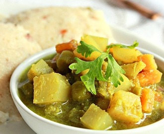 Vegetable Sagu, Vegetable Curry For Rava Idlis