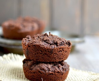 Coconut Flour Chocolate Muffins (Eggless, vegan, gluten free recipe)