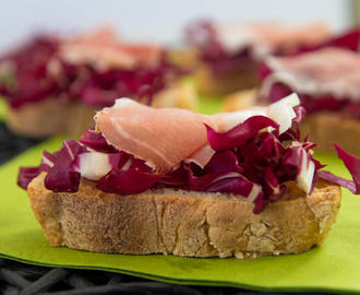 Bruschetta With Radicchio And Speck