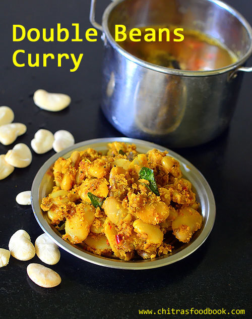 Double Beans Poriyal – South Indian Style Double Beans Curry For Rice
