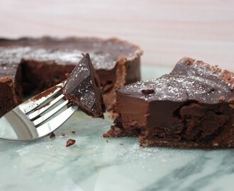 Rum and Raisin Chocolate Tart