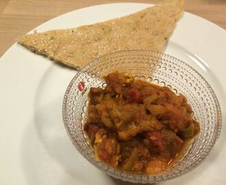 Baingan bhartha – Stekt aubergine curry