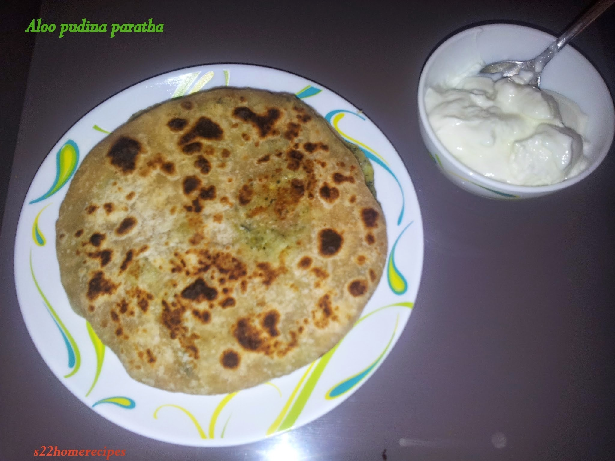 Aloo pudina paratha(Potato and fresh mint paratha)