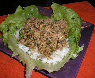 Larb (Laab) Thai Meat Salad With Mint and Lemongrass