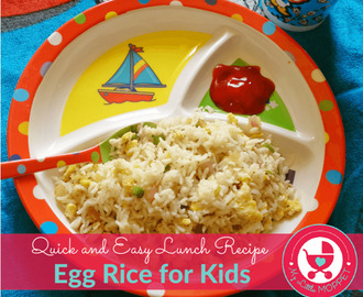 Egg Rice – Quick and Easy Lunch Recipe
