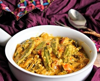 Dahi Bhindi, Okra In Yogurt Gravy