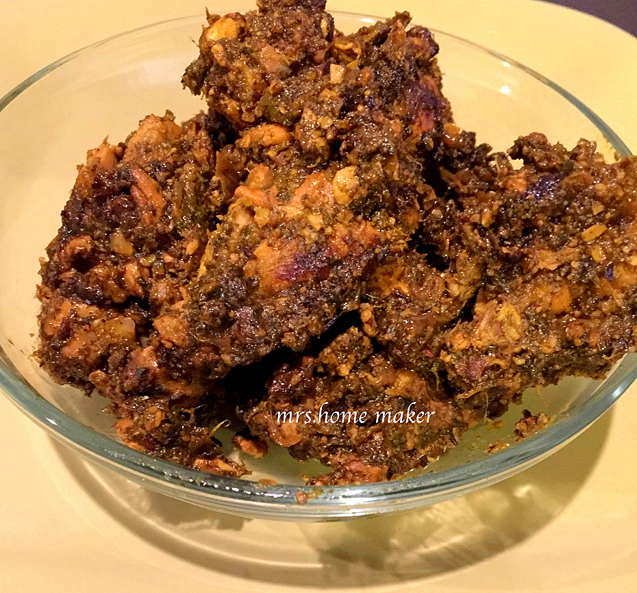 Spicy Gongura Chicken Fry (Spicy Red Sorrel Chicken Fry)