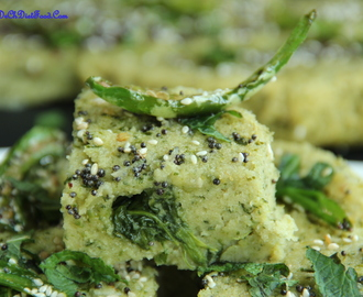 Lentils/Dals Spinach Dhokla
