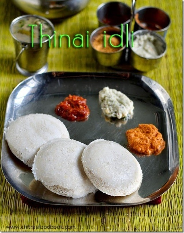 THINAI IDLI RECIPE/FOXTAIL MILLET IDLI-MILLET RECIPES