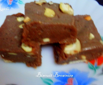 Biscuit Brownies ( No Bake)
