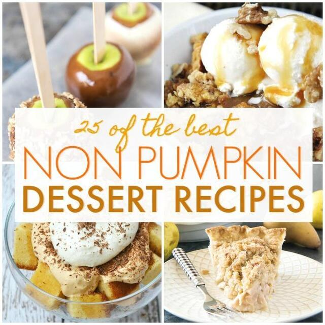 Fall Dessert Recipes Without Pumpkin