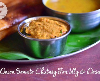Onion Tomato Chutney Recipe| Side Dish For Idly Dosa