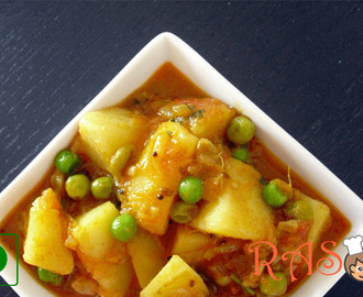 Aloo Matar Recipe - Potato Peas Curry Recipe - Aloo Matar in Tomato Gravy Recipe