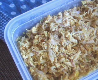 Basic Chicken Filling- How to freeze.. (Ramadan Preparations)