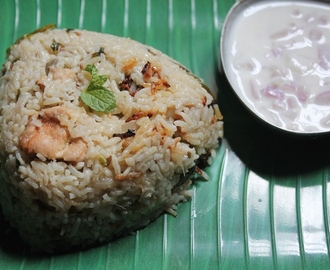 Chicken White Rice Recipe / Coconut Milk Chicken Biryani Recipe