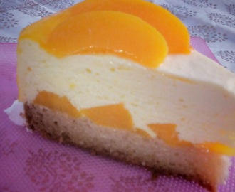 Peach and Mango Mousse Cake