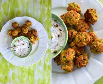 Fiesta Friday Special: Onion Bhajiya with Caramelised Onion Raita