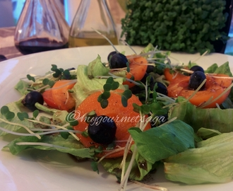 Apricot Berry & Cress Salad with Balsamic Dressing