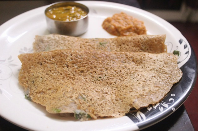 Instant whole wheat rava dosa