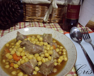 Garbanzos con guiso de carrilleras de ternera