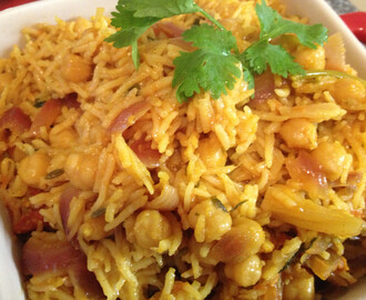 Chole or Chick Peas Biriyani