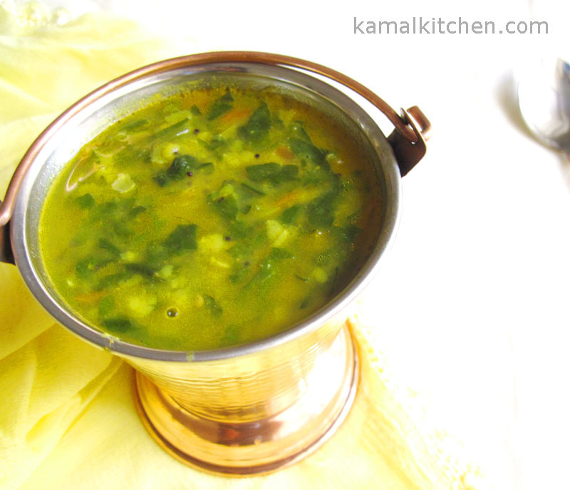 Palak Daal Recipe – Spinach and Lentil Stew
