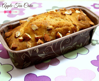 Eggless Apple Tea Cake | How to make Eggless Apple Loaf