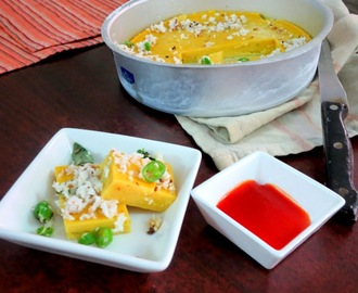 Chana Dal Dhokla ~ Healthy Snack Recipes