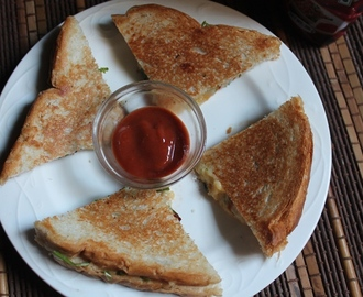 Cheese Chilli Sandwich Recipe - Chilli Cheese Sandwich Recipe