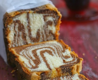 Vanilla And Chocolate Marble Cake, For My Brother On Rakshabandhan