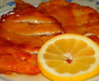 Filetes de pechuga de pollo al limon (receta china)
