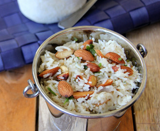 Almond Jeera Rice - Almond Cumin Seeds Rice - Simple Rice recipe - Simple Lunch or Dinner Recipes