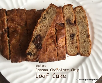 Eggless Banana Loaf Cake  with Wheat Flour ( No Egg & No Butter)