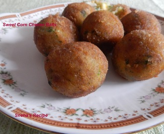 Sweet Corn Cheese Balls