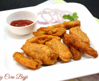 Baby Corn Bajji | How To Make Corn Bajji