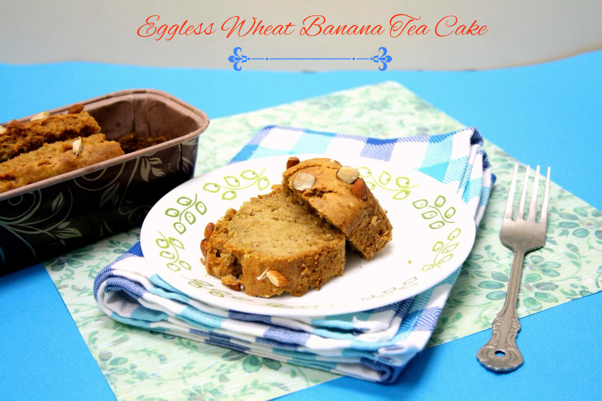 Eggless Wheat Banana Tea Cake | How to make Eggless Wheat Banana Loaf
