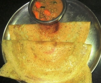Toor Dal + Rice Dosa