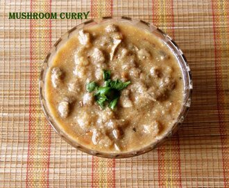Spicy mushroom curry recipe