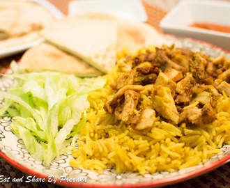 New York City / NYC Chicken and Rice / Chicken Shawarma and rice/ Halal Chicken over Rice