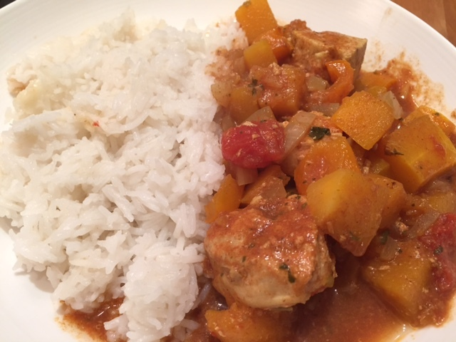 Slow Cooker Chicken and Butternut Squash Curry