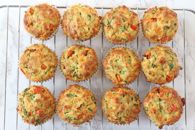Spinach & Cheese Lunchbox Muffins