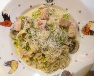 Creamy Chicken, Pancetta, Mushroom's and Peas's with Fresh Sage Pasta Recipe