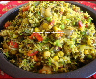 Methi Mutter Pulav / Fenugreek Peas Rice