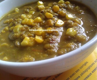 Spinach Corn Curry/ Palak Corn Subzi-Version I