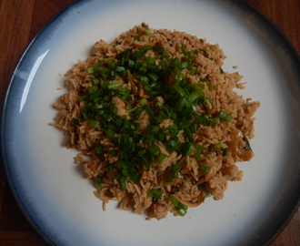 Spring onion pulav/Rice