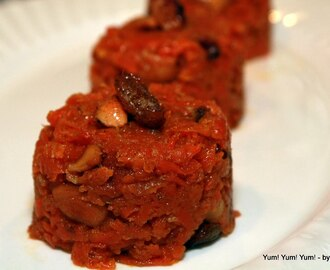 Gajar ka Halwa ~ Carrot Halwa ~ Buttered Carrot with Milk