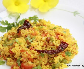 Atukula Upma / Poha ke Upma / Flattened Rice with Vegetables