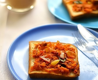 Iyengar Bakery Bread Toast-Masala Vegetable Sandwich Recipe