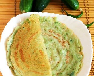 Cucumber Savory Dosa Recipe