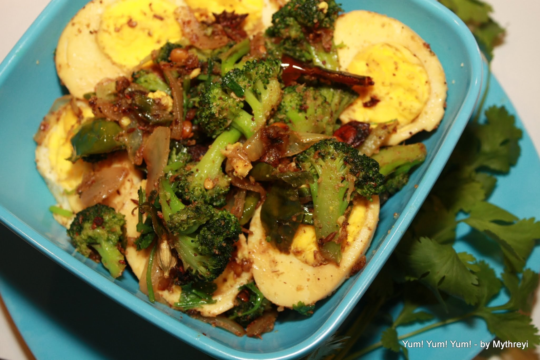 Broccoli and Boiled Egg Stir Fry